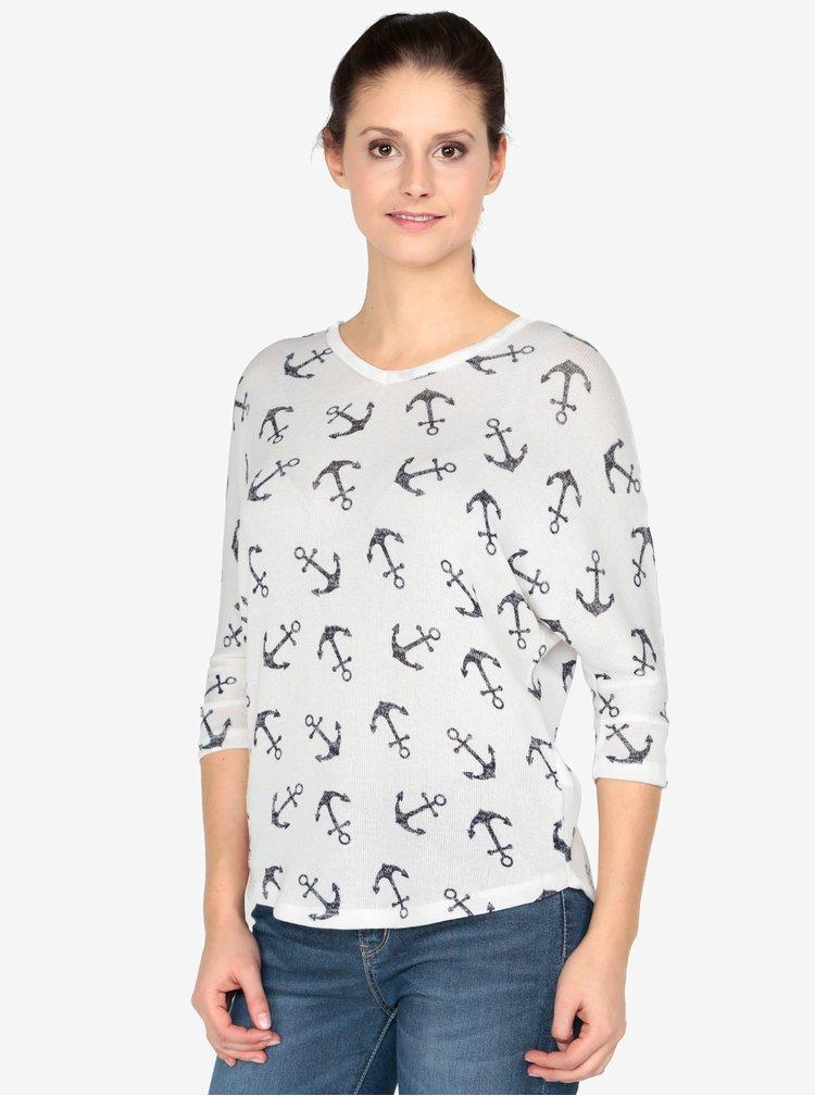 Krémový vzorovaný svetr Haily´s Lisa