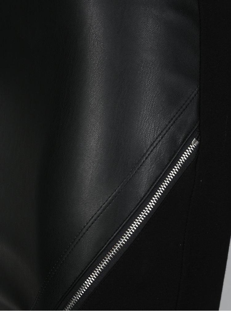 Fusta asimetrica neagra cu fermoar TALLY WEiJL