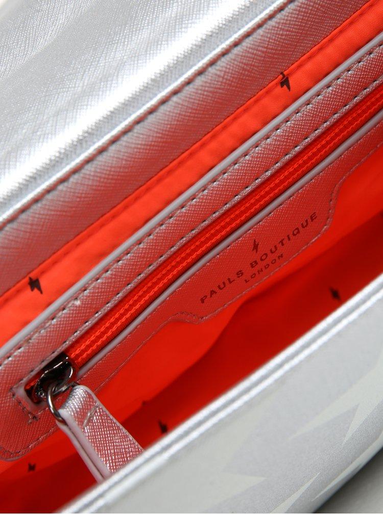 Crossbody kabelka ve stříbrné barvě s červeným popruhem Paul´s Boutique Nicole