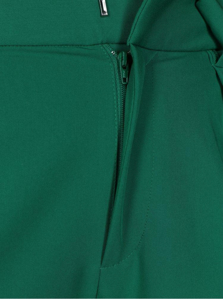 Zelené kalhoty s vysokým pasem TALLY WEiJL