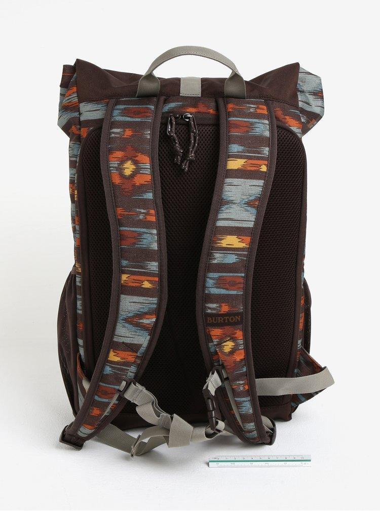 Hnědý vzorovaný batoh Burton Export 25 l