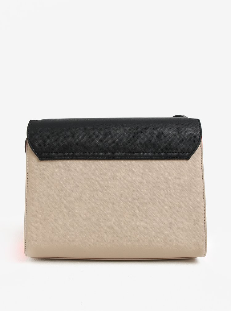 Černo-béžová kabelka přes rameno Paul´s Boutique Nancy