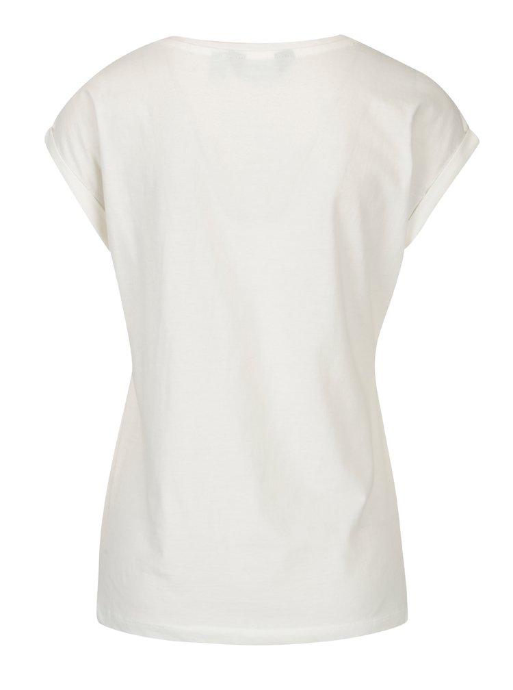 Krémové tričko s vyšívkami Dorothy Perkins