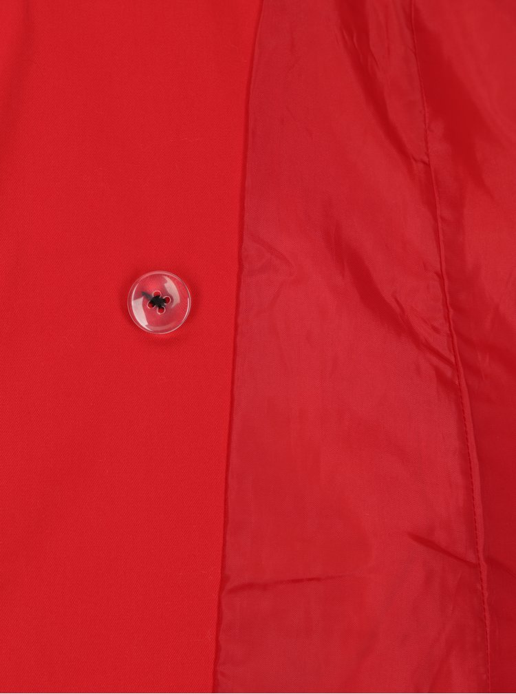 Červený trenčkot s opaskom TALLY WEiJL