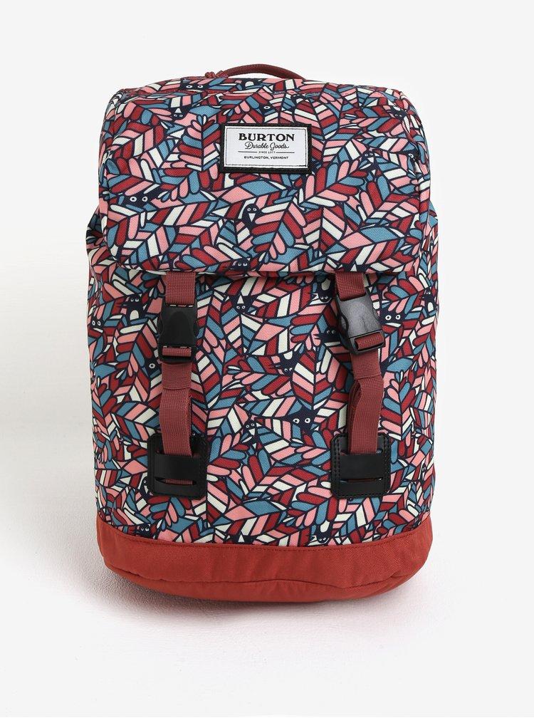Cihlový holčičí vzorovaný batoh s klopou Burton Youth Tinder 16 l