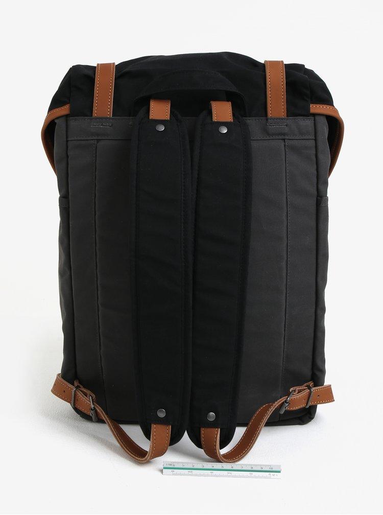 Černo-šedý voděodolný batoh Fjällräven Rucksack No. 21 Medium 20 l