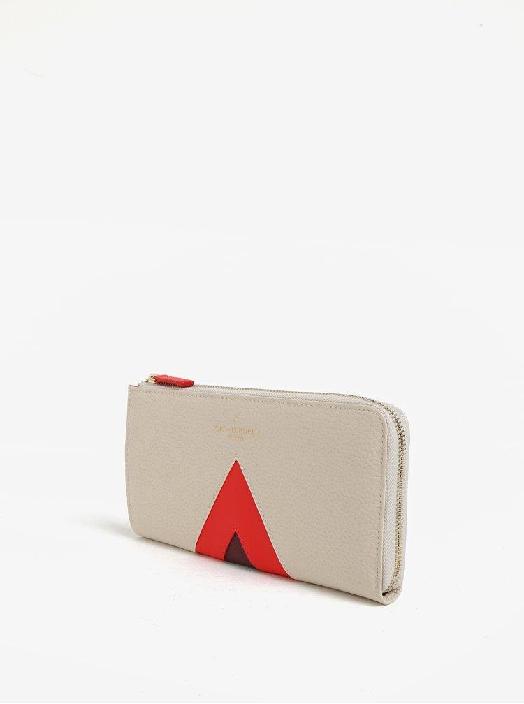 Červeno-krémová velká peněženka Paul´s Boutique Evie