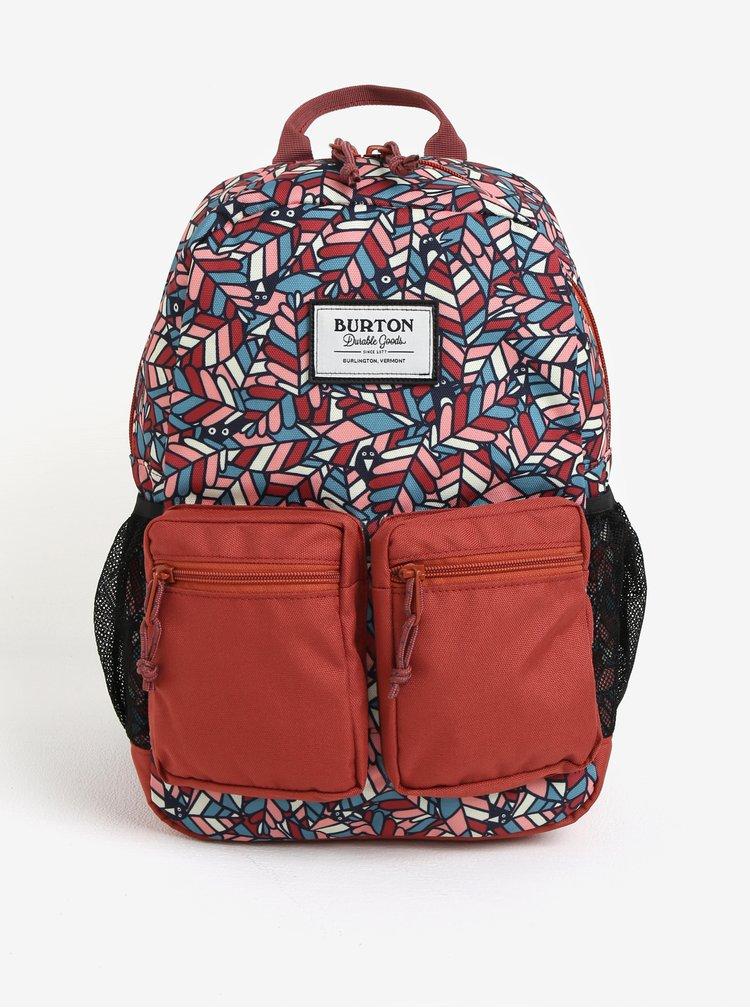 Cihlový holčičí vzorovaný batoh s kapsami Burton Youth Gromlet 15 l