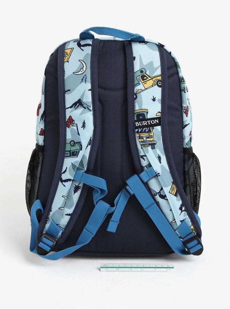 Světle modrý klučičí vzorovaný batoh s kapsami Burton Youth Gromlet 15 l