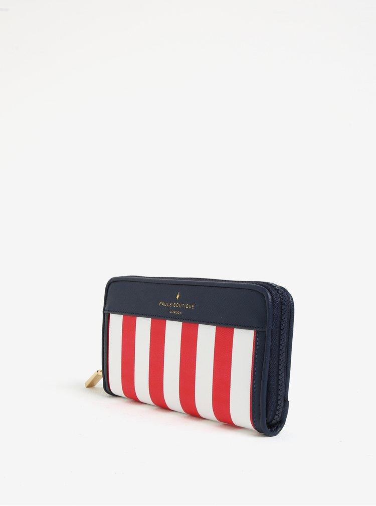 Bílo-červená pruhovaná peněženka Paul´s Boutique Lizzie