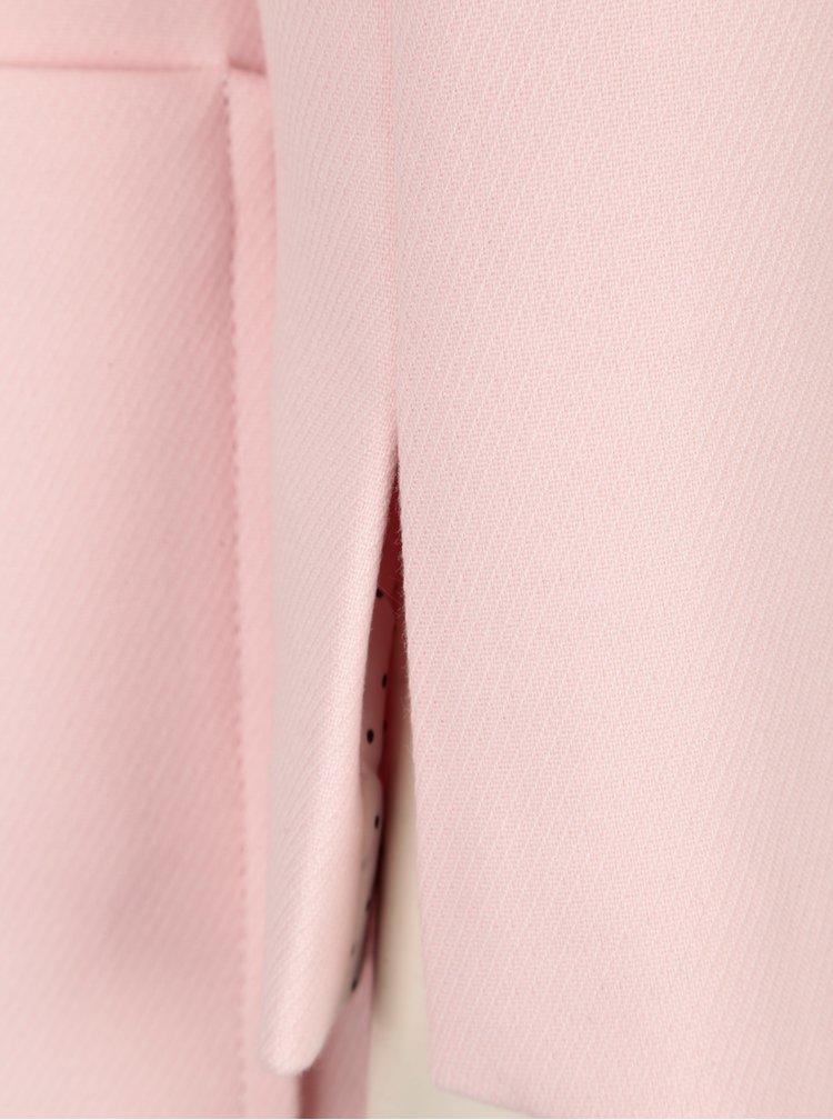 Světle růžový kabát s kapsami Dorothy Perkins