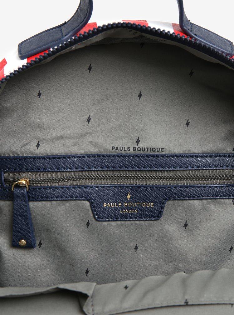 Bílo-červený pruhovaný batoh Paul´s Boutique Rosa