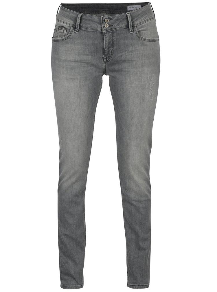 Šedé dámské skinny džíny Cross Jeans