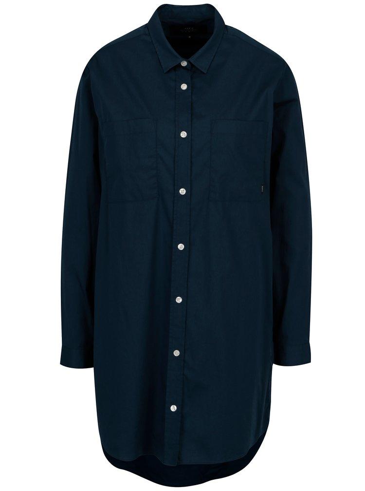 Tmavě modré dámské košilové šaty Makia