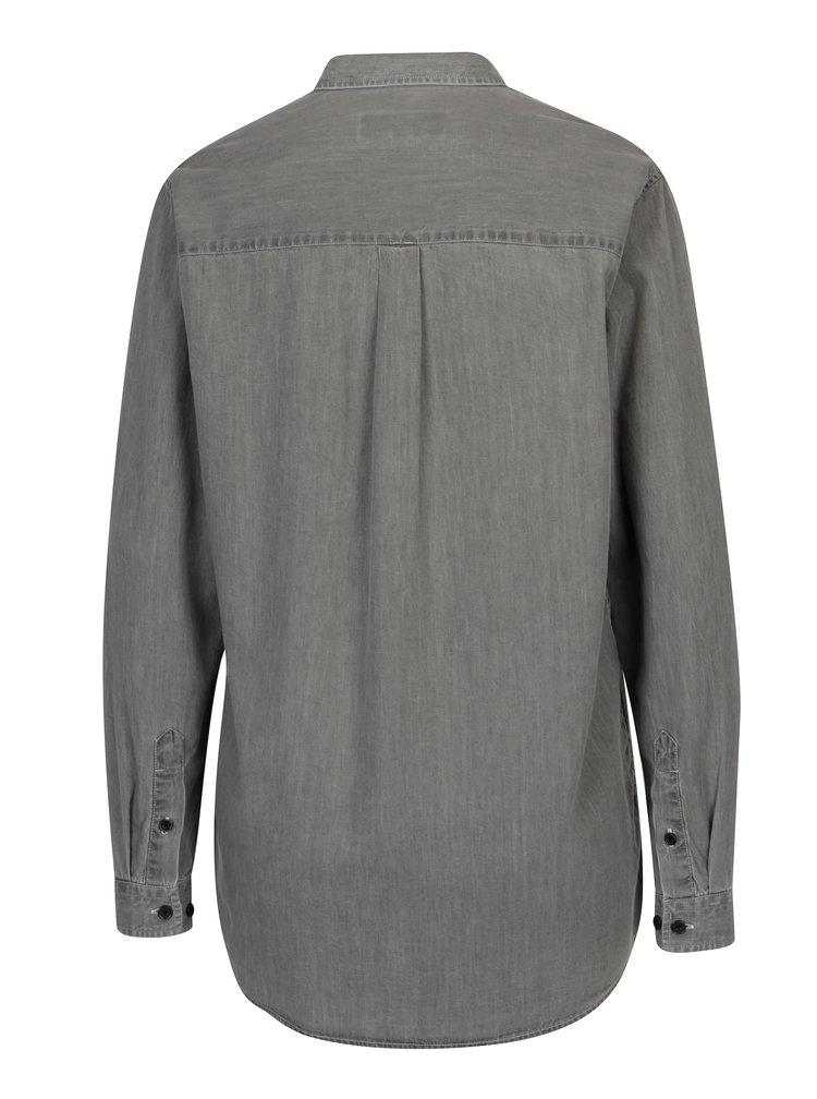 Šedá dámská žíhaná košile Makia