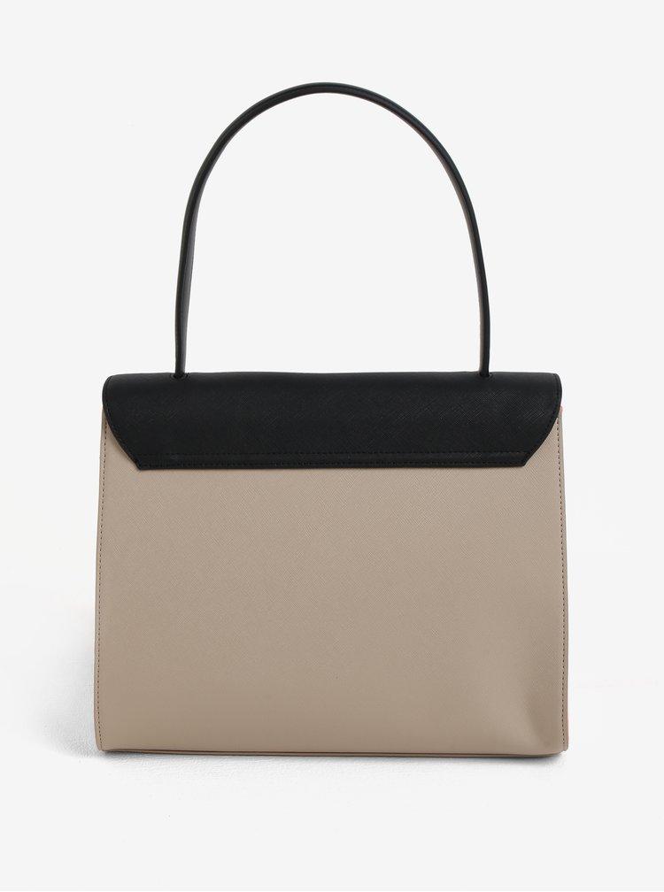 Černo-béžová kabelka s klopou Paul´s Boutique Liberty