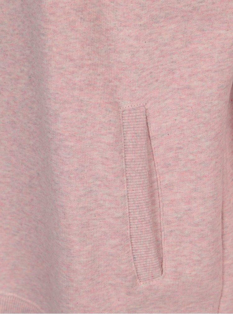 Světle růžová dámská žíhaná mikina Makia
