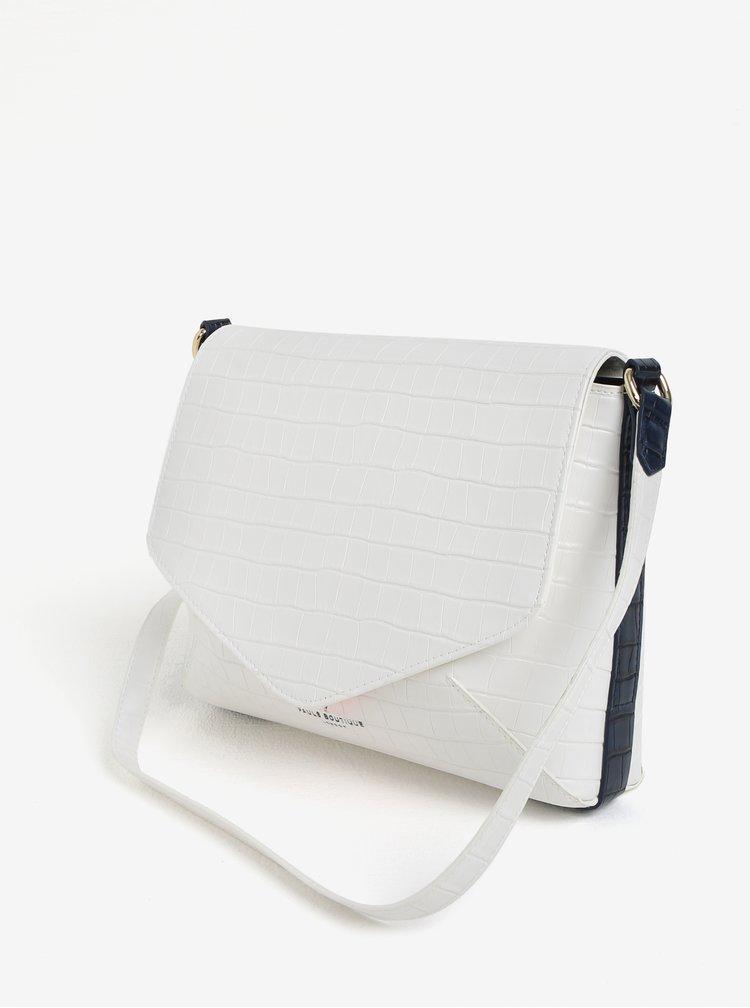 Bílá crossbody kabelka s krokodýlím vzorem Paul´s Boutique Raffie