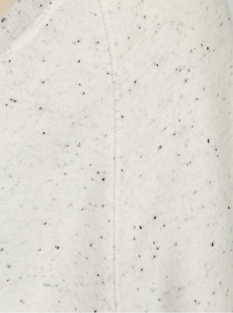 Krémová vzorovaná basic mikina Makia