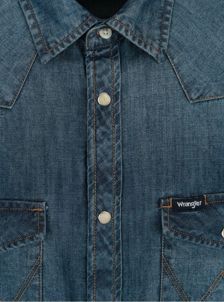 Camasa albastra din denim pentru barbati - Wrangler Western