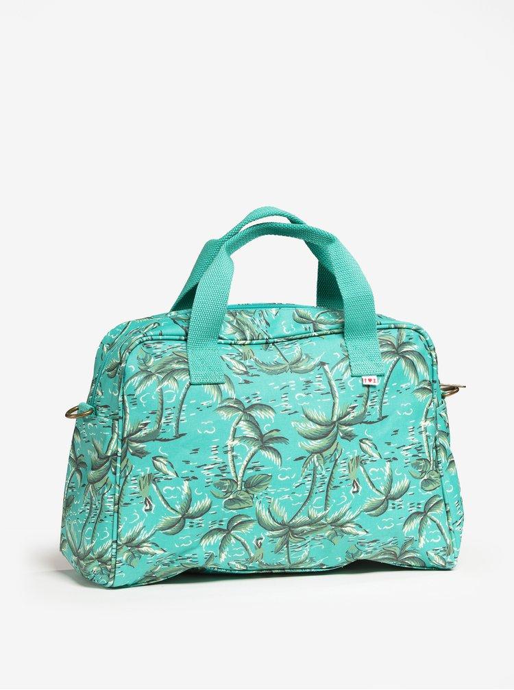 Tyrkysová vzorovaná cestovní taška Blutsgeschwister