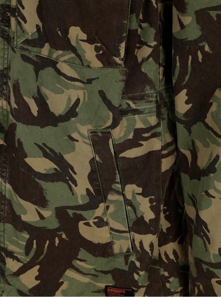 Khaki pánská maskáčová bunda Superdry Rookie