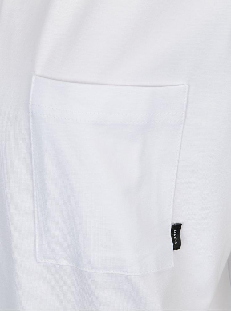 Bílé dámské oversize tričko Makia