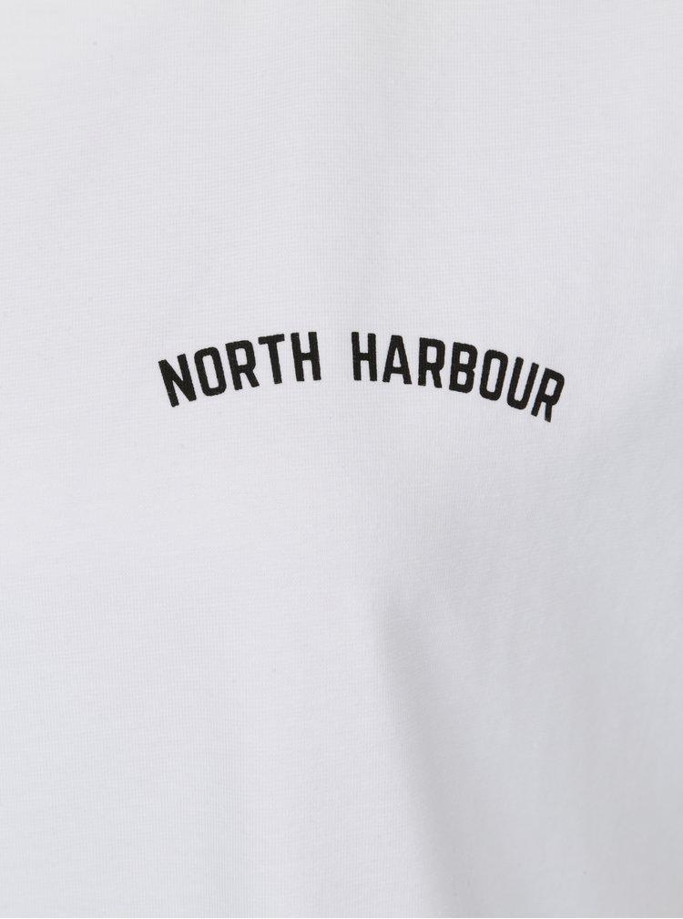 Bílé dámské oversize tričko s potiskem Makia