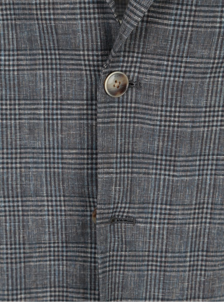 Sacou gri cu model tartan - Hackett London