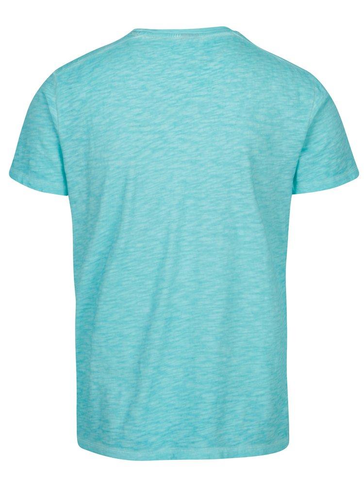 Modré pánske melírované tričko s.Oliver