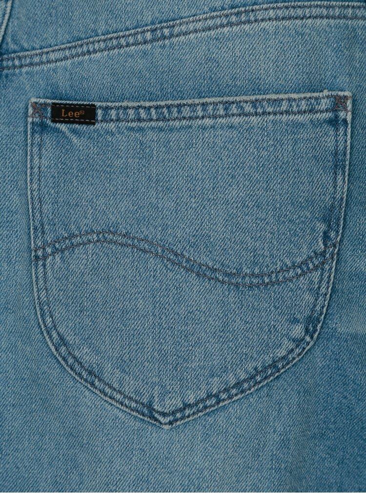 Modrá džínová sukně s vysokým pasem Lee