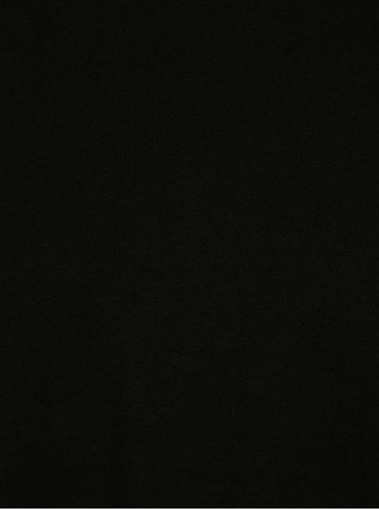 Černé pánské regular fit tričko s kulatým výstřihem s.Oliver