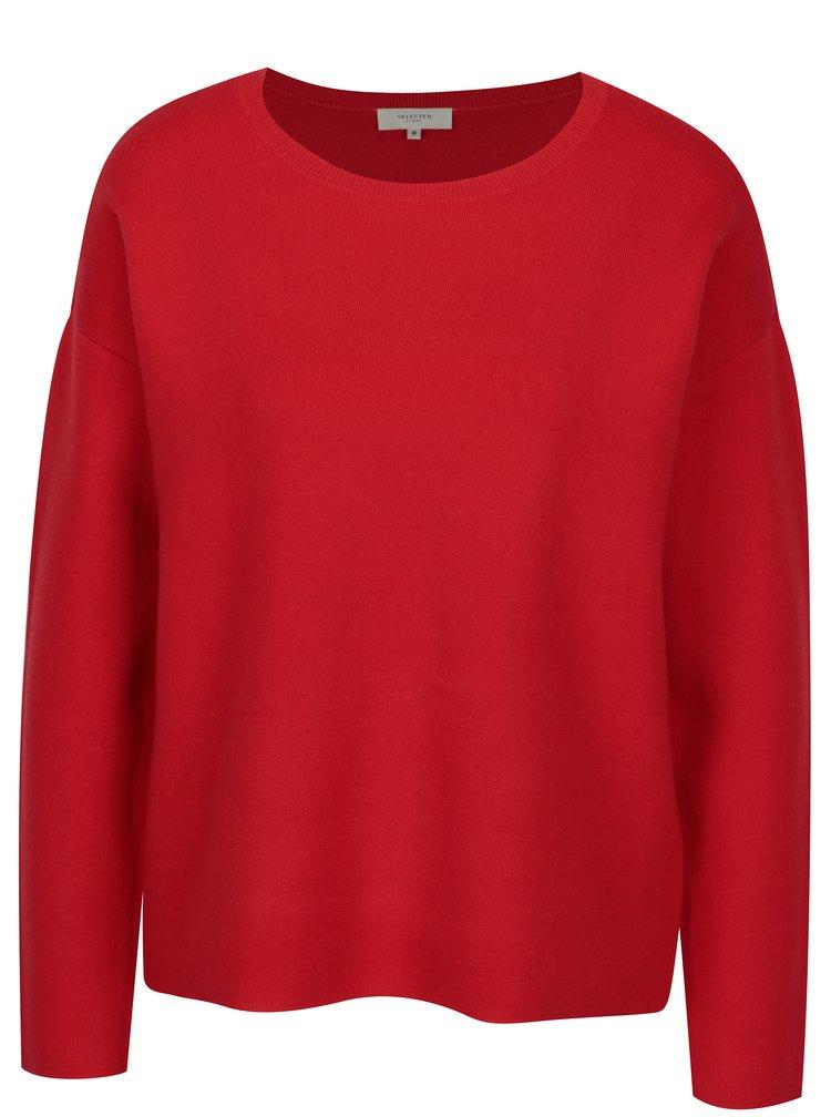 Červený svetr Selected Femme Minnie