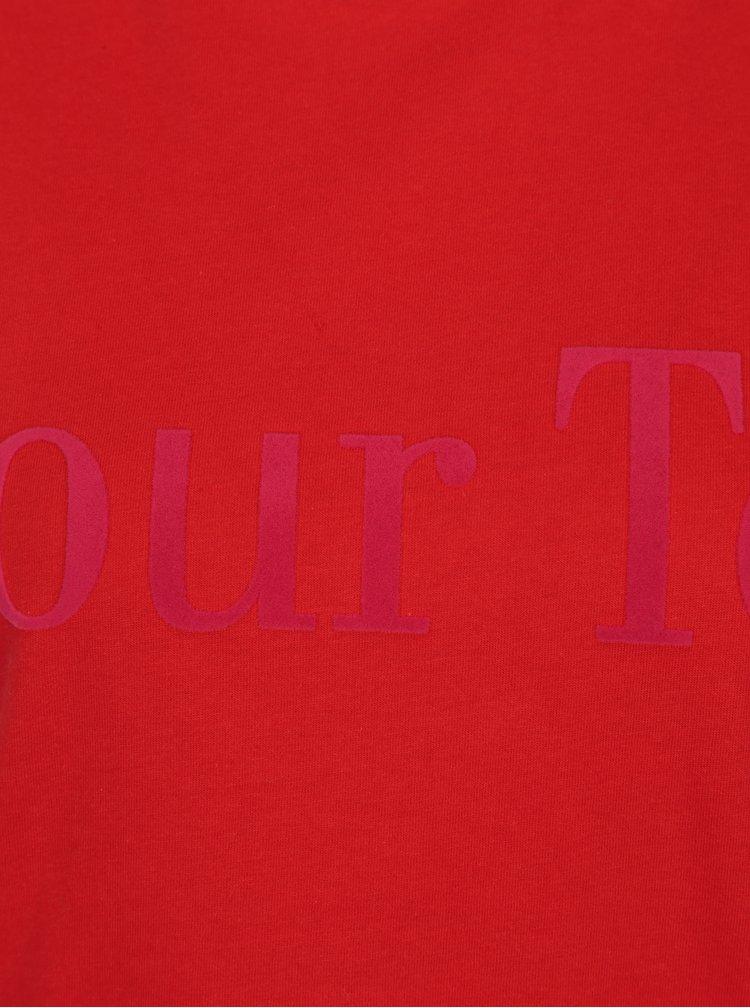Červené tričko Selected Femme Toi