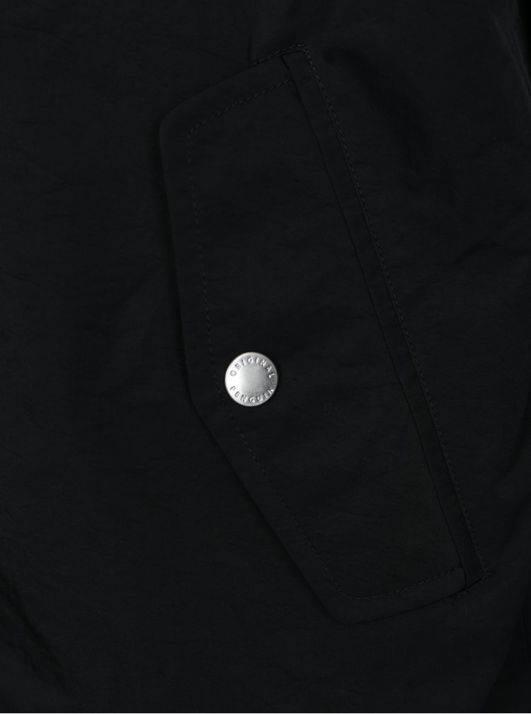 Černá lehká bunda s kapucí Original Penguin Ratner