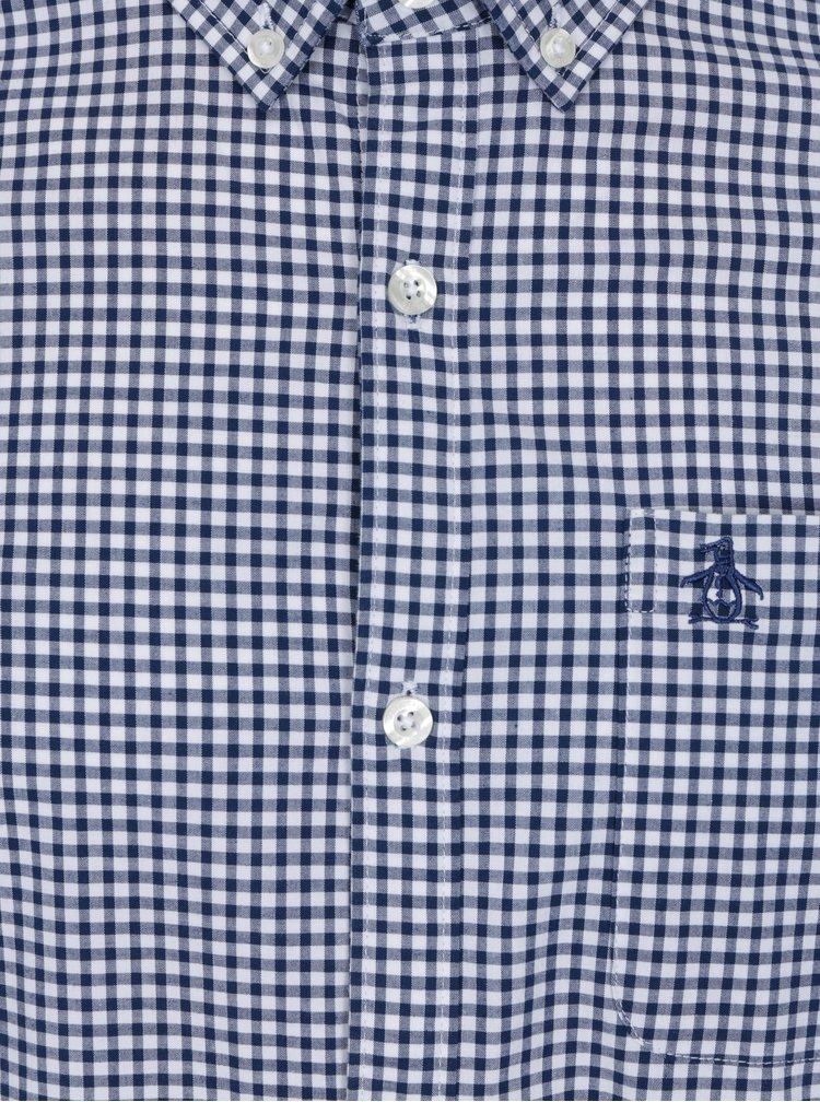 Bílo-modrá kostkovaná slim fit košile Original Penguin Core Gingham
