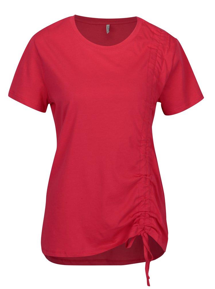 Tmavě růžové tričko se stahováním ONLY Merle