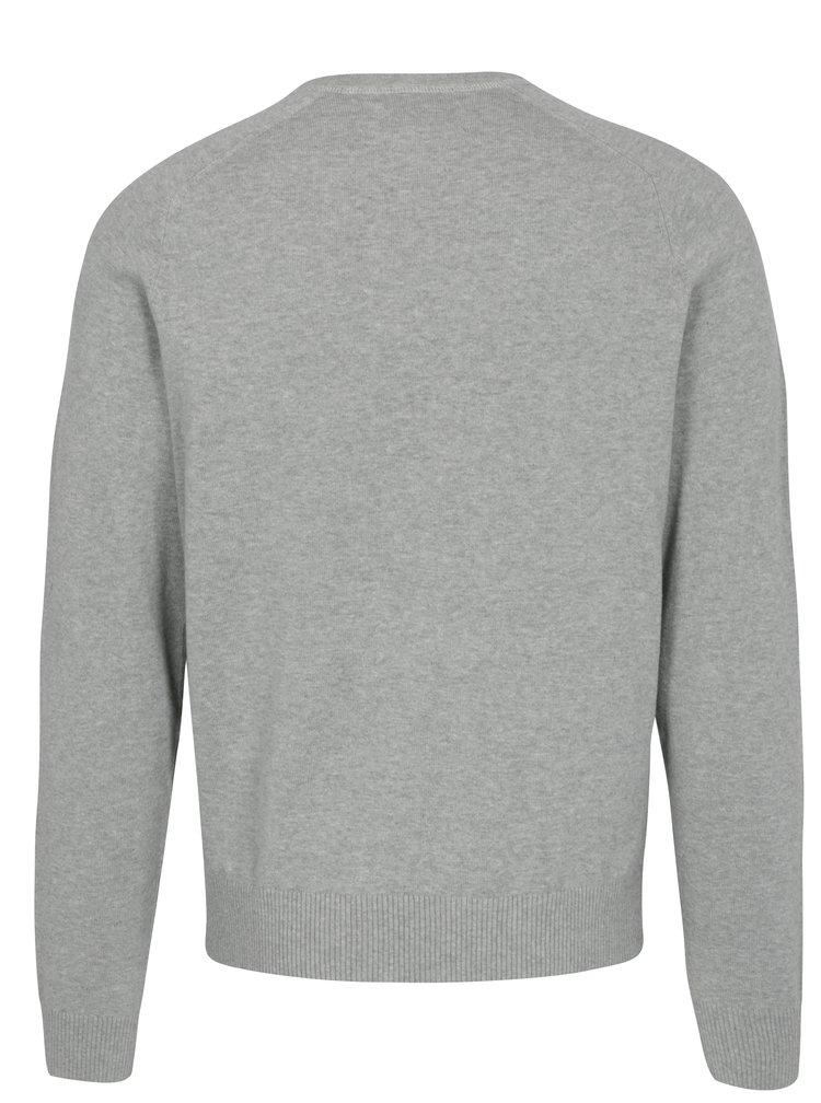 Šedý žíhaný lehký svetr Original Penguin Chester