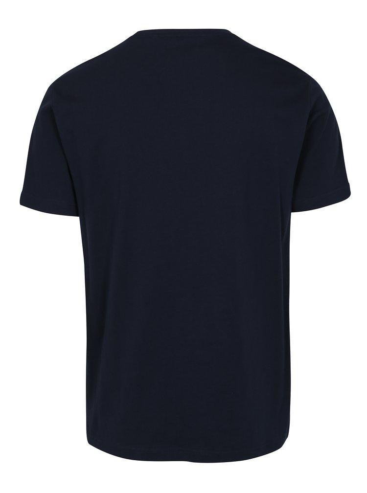 Tmavě modré tričko s potiskem Original Penguin Flocked