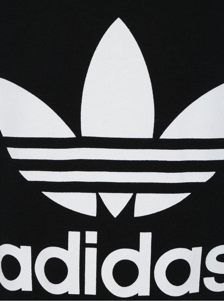 Černá klučičí mikina s potiskem adidas Originals