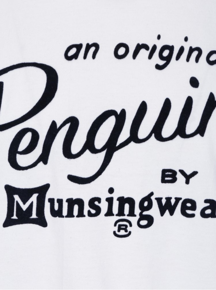Bílé tričko s potiskem Original Penguin Flocked