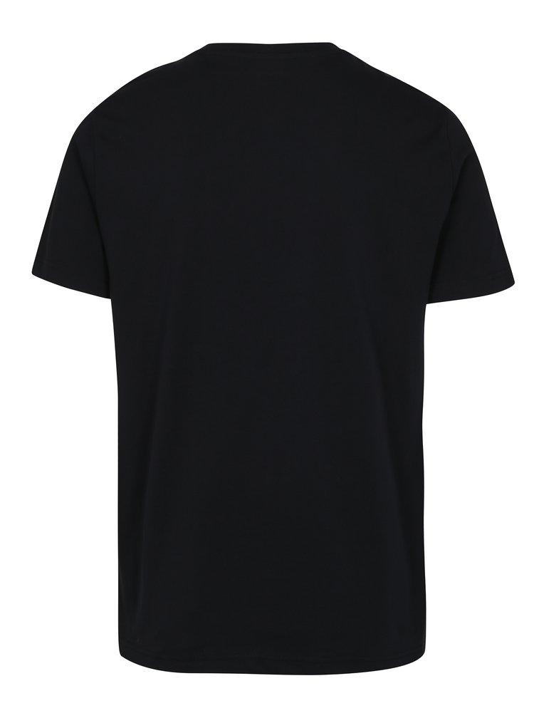 Černé tričko s potiskem Original Penguin Distressed