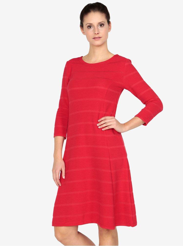 Červené pruhované šaty s 3/4 rukávem s.Oliver
