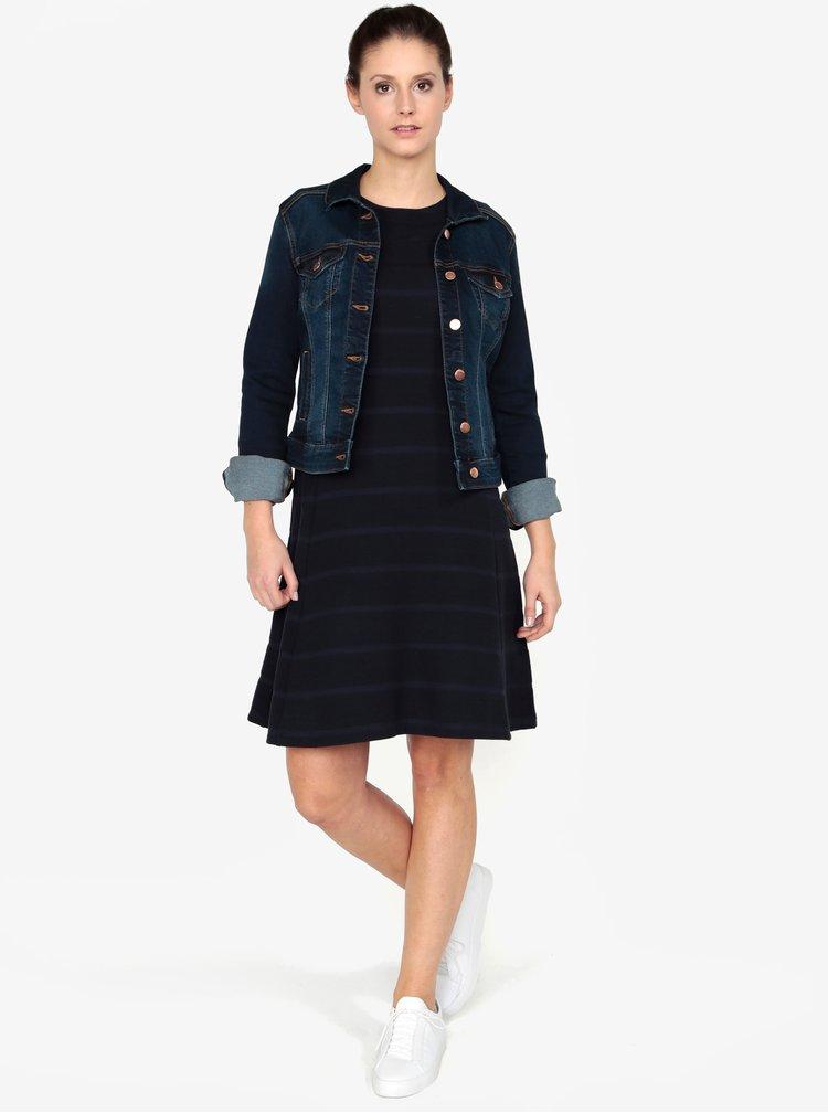 Tmavě modrá dámská džínová bunda QS by s.Oliver