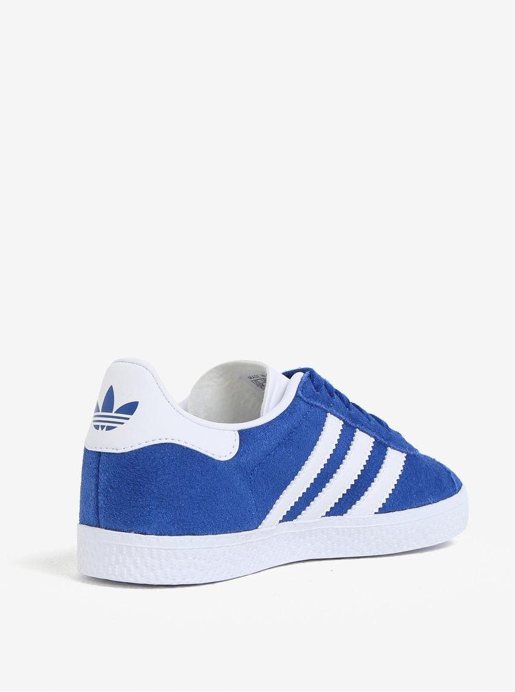 Modré dětské semišové tenisky adidas Originals