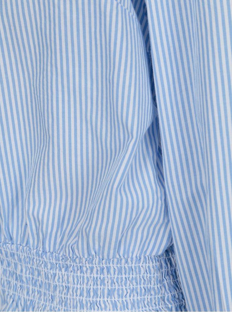 Bílo-modrá volná pruhovaná halenka ONLY Maia