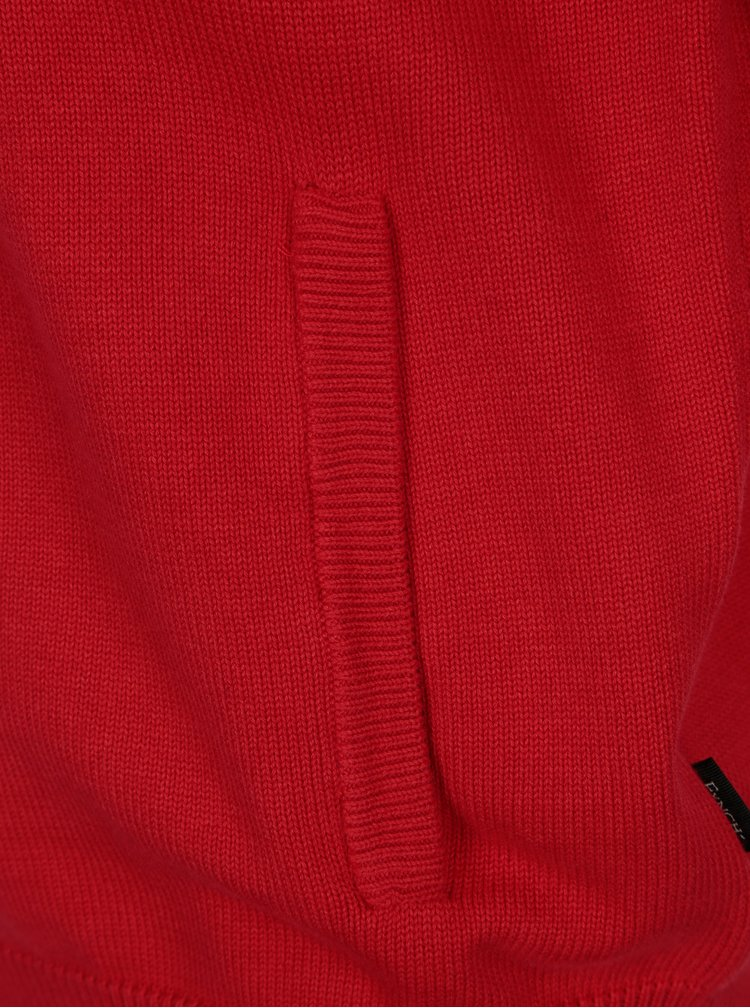 Červený kardigan na zip Fynch-Hatton