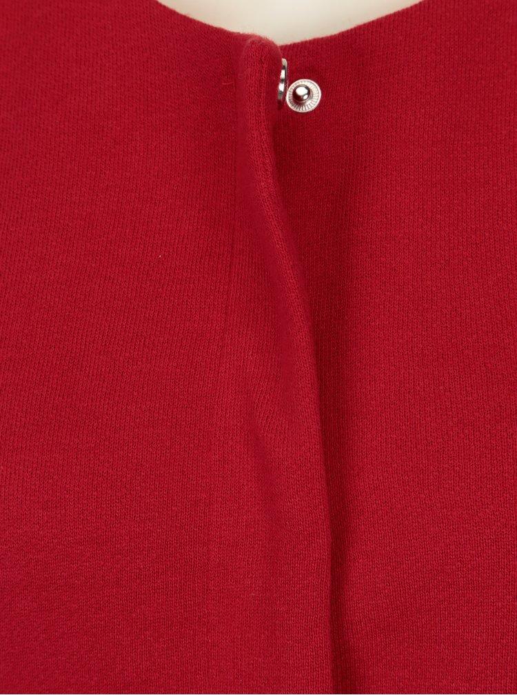 Červený kabát s volány ONLY Sia
