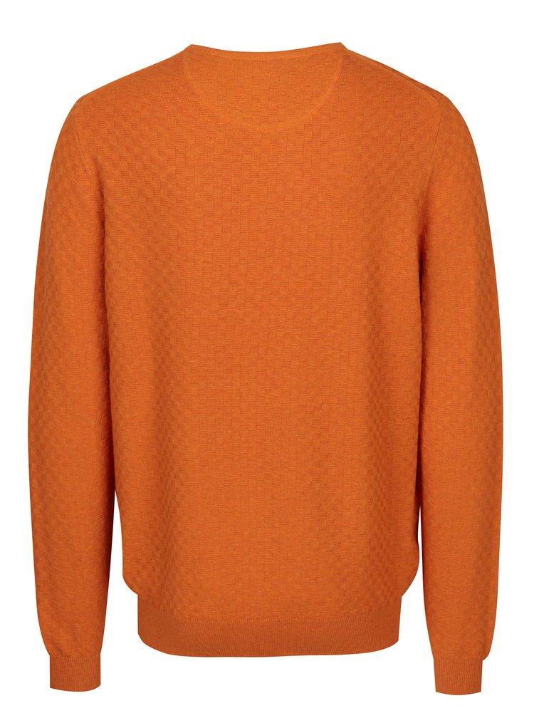 Oranžový vzorovaný svetr Fynch-Hatton