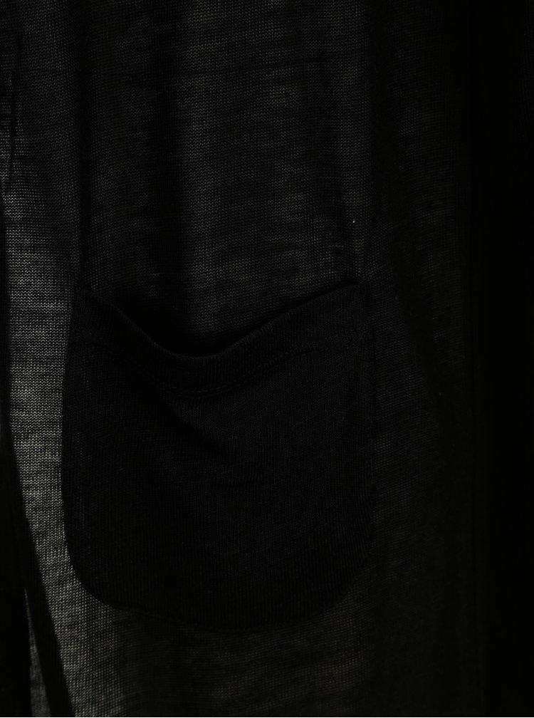 Černý kardigan s kapsami VERO MODA Wilma